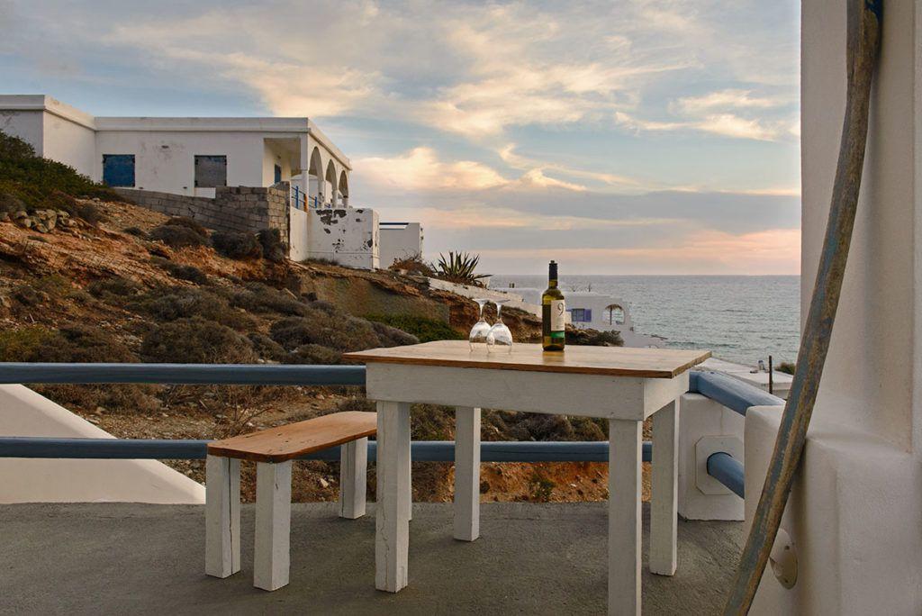 Folegandros Perigiali Agkali beach view